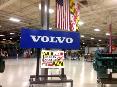 Last year, the Volvo Group announced a $30 million expansion of its plant in Hagerstown, Maryland, which included adding 100 to 140 jobs. Since 2001, the Volvo Group has invested more than $350 million in that plant alone, which currently employs more than 1,300 people.