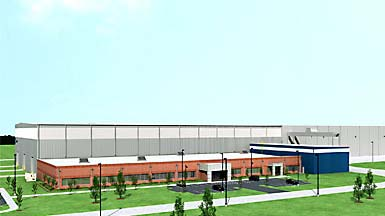 Rendering of Nordex USA plant at Jonesboro, Arkansas