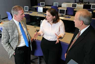 Faculty and students partner at the IBM Client Center for Advanced Analytics in Columbus, Ohio.
