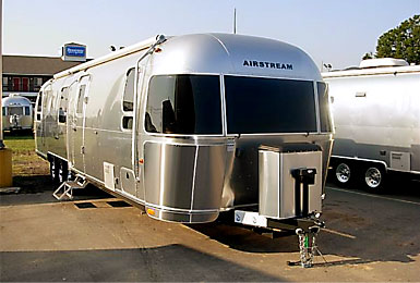 Recreational vehicle by Airstream Inc., manufactured in Indiana