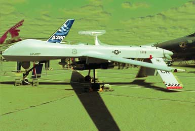 The MQ-1 Predator unmanned aircraft system (UAS) is manufactured by General Atomics in San Diego, California.