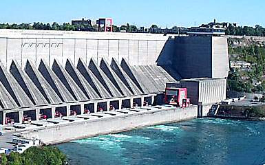 Niagara Power Project hydroelectric plant on the Niagara River in Lewiston, N.Y.