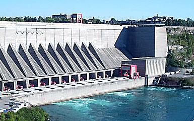 Niagara Power Project hydroelectric plant on the Niagara River in Lewiston, N.Y.