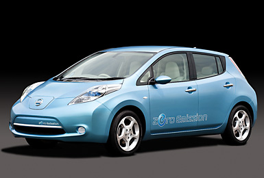 The all-electric Nissan LEAF will be assembled in Smyrna, Tennessee.