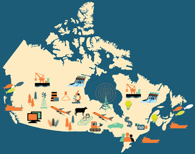 Economy Map Of Canada The Canadian Advantage: Competitive Business Costs and Low Taxes